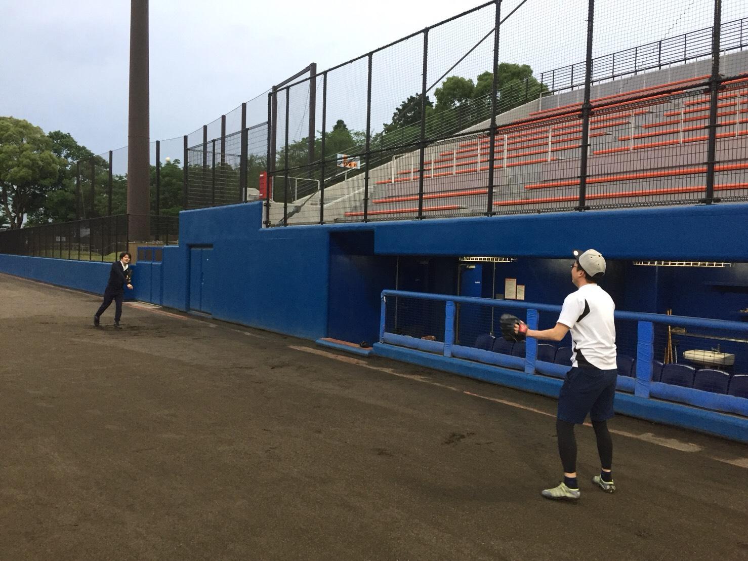 村上建設野球チーム練習