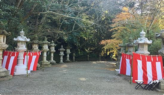 香取神宮への灯篭を奉納3